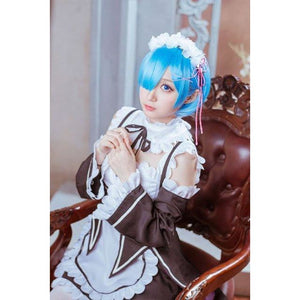 Re:Zero Life In A Different World From Zero Rem Costume+Shoes+ Wigs - SpiritCos