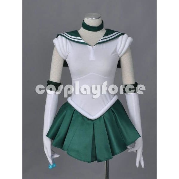 Sailor Moon Sailor Jupiter  Cosplay Costume With Two Headwears - SpiritCos