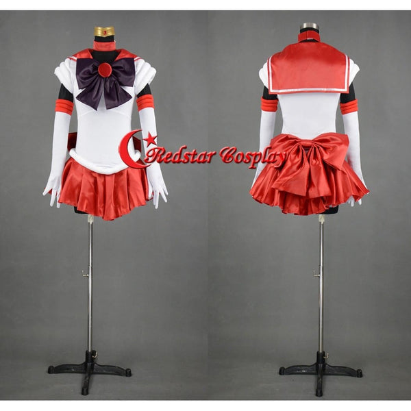 Sailor Moon Sailor Mar Red Cosplay Costume Uniform Dress Sailormoon - Custom-Made In Any Size - SpiritCos