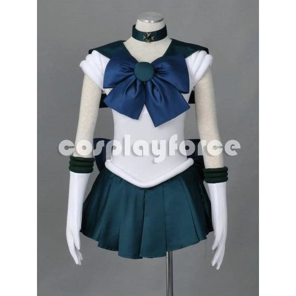 Sailor Moon Sailor Neptune  Cosplay Costume With Two Headwears - SpiritCos