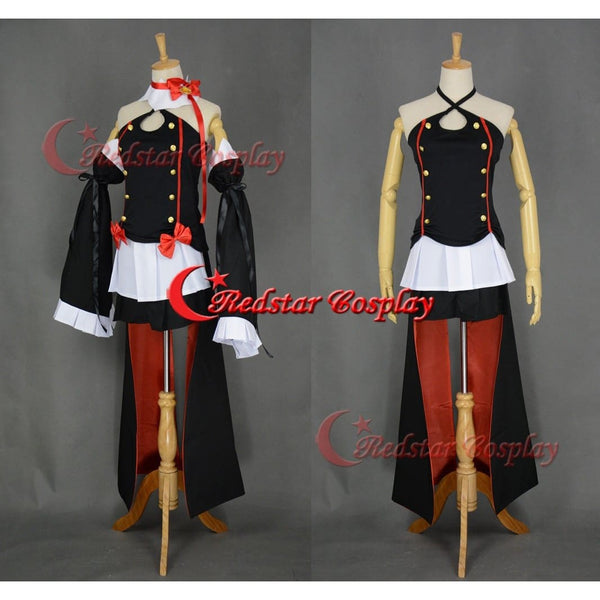 Seraph Of The End Vampire Krul Tepes Black Lolita Dress Cosplay Costume - SpiritCos