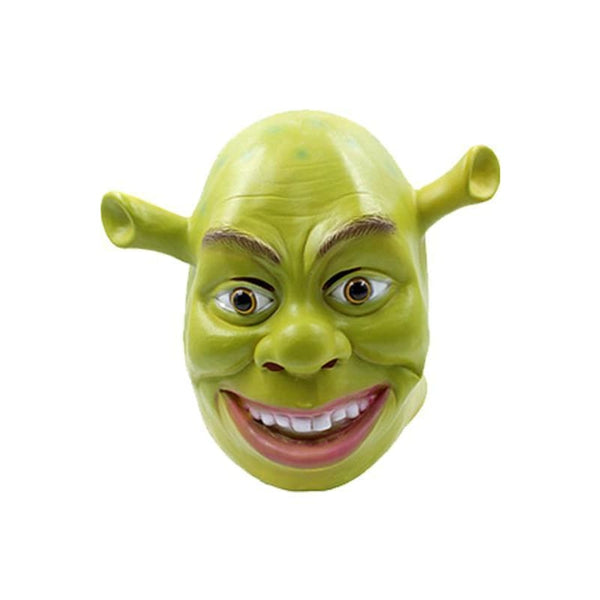 Shrek Mask Cosplay Full Head Latex Helmet Green - SpiritCos