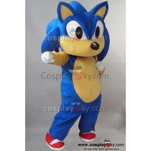 Sonic Hedgehog Mascot Costume Fancy Dress Outfit - SpiritCos