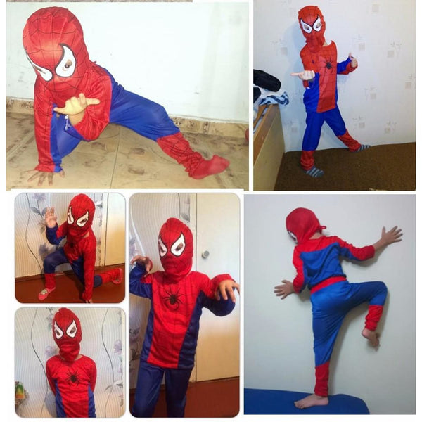 Spider Man Children Clothing Sets Spiderman Halloween Party Cosplay Costume Kids Long Sleeve Super Hero Batman Suits - SpiritCos
