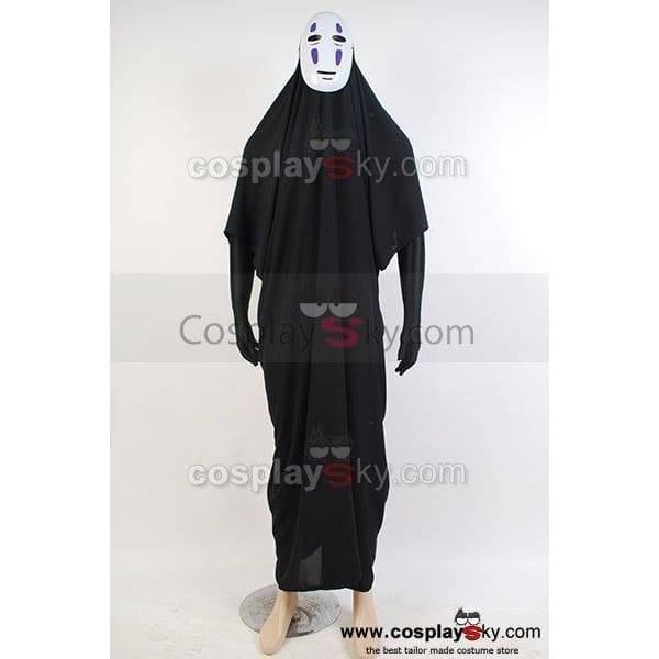 Spirited Away No-Face Coat Mask Outfit Cosplay Costume - SpiritCos