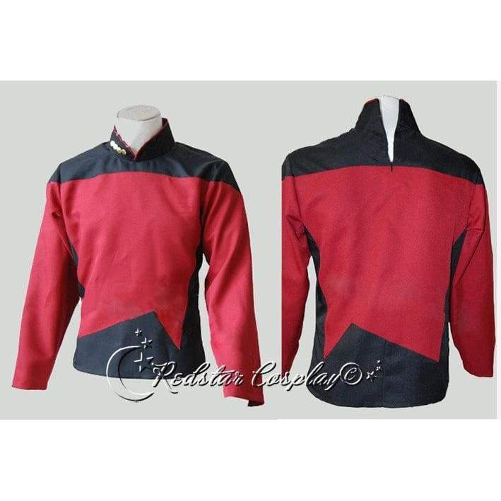Star Trek TNG The Next Generation Red Shirt Uniform Cosplay Costume  - Custom made in any size - SpiritCos