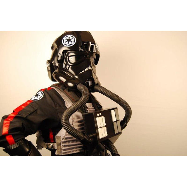 Star Wars Imperial Tie Fighter Pilot Black Flightsuit Uniform Jumpsuit B - SpiritCos