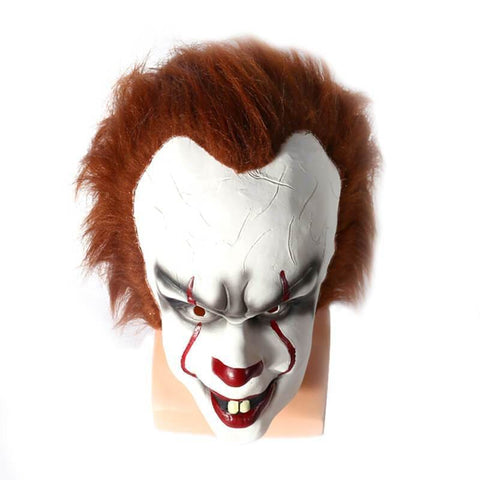 Stephen King'S It Pennywise Mask Halloween Cosplay Mask For Adult Men - SpiritCos