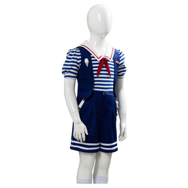 Stranger Things 3 Scoops Ahoy Robin Cosplay Costume For Kid - SpiritCos