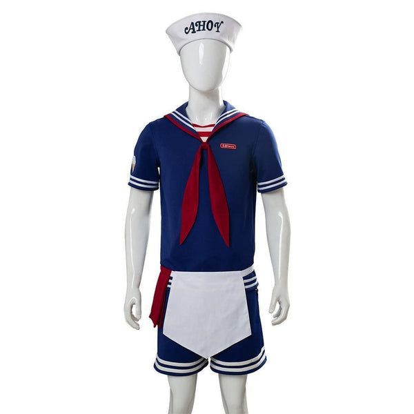Stranger Things 3 Scoops Ahoy Steve Harrington Cosplay Costume Adult And Child - SpiritCos