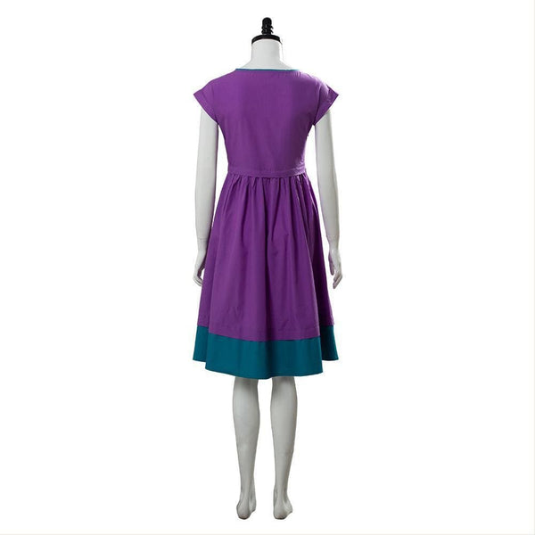 Stranger Things Season 3 Nancy Wheeler Purple Dress Cosplay Costume - SpiritCos