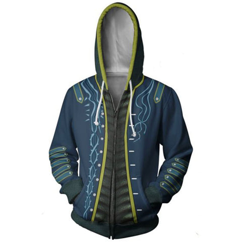 Teen Hoodie Devil May Cry Vergil Zip Up Sweatshirt Adult Unisex - SpiritCos
