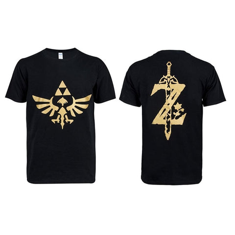 The Legend Of Zelda :Breath Of The Wild Black Short T-Shirt - SpiritCos