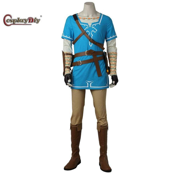 The Legend of Zelda Breath of the Wild Link Cosplay Costume Adult Men Halloween Carnival Outfit Full set Custom Made - SpiritCos