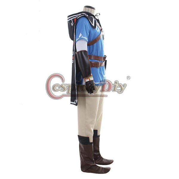 The Legend of Zelda Breath of the Wild Link Cosplay Costume Adult Men Halloween Costumes Cape Outfit Custom Made J10 - SpiritCos