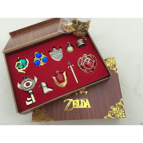 The Legend Of Zelda Collection Sets Keychain Necklace Series Gift Box Cosplay Accessories - SpiritCos