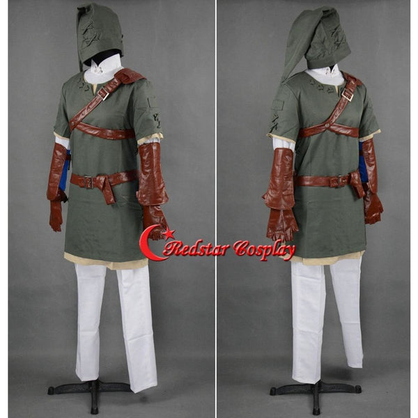 The Legend Of Zelda Link Cosplay Costume (Ver.2) - Custom Made In Any Size - SpiritCos