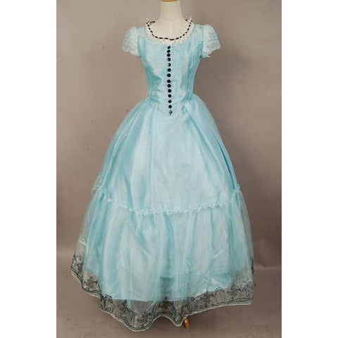 Tim Burton'S Alice In Wonderland Alice Blue Dress Costume - SpiritCos