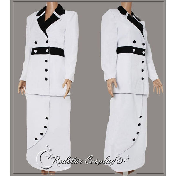 Titanic Rose Cosplay White Maiden Costume Dress - Custom Tailed in Any size - SpiritCos