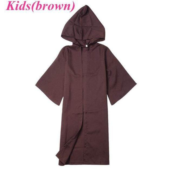 Unisex Halloween Star Wars Jedi/Sith Knight Cloak Cosplay Adult/Kids Hooded Robe Cloak Cape Halloween Cosplay Costume - SpiritCos