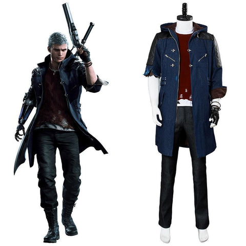 Video Game Devil May Cry 5 Nero Outfit Cosplay Costume New - SpiritCos