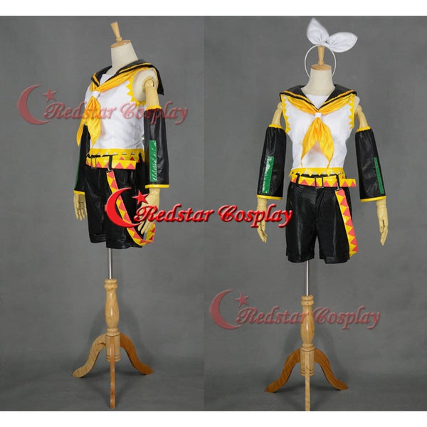 Vocaloid Kagamine Rin Cosplay Costume - Custom Made In Any Size - SpiritCos