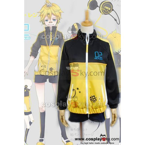 Vocaloid Len Project Diva Sport Suit Cosplay Costume - SpiritCos