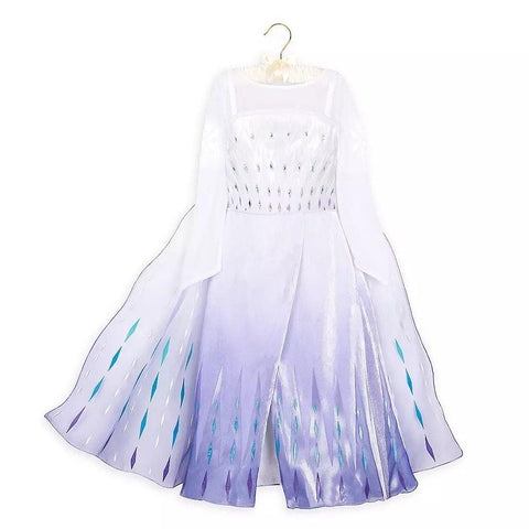 Frozen 2 Girls Elsa Princess Long Sleeve Cosplay Costume Dresses With Cape For Party Holidays - SpiritCos
