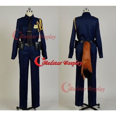 Zootopia Cosplay Zootopia Police Officer Judy Hopps Or Nick Wilde Police Officer Uniform Outfit Suit - SpiritCos