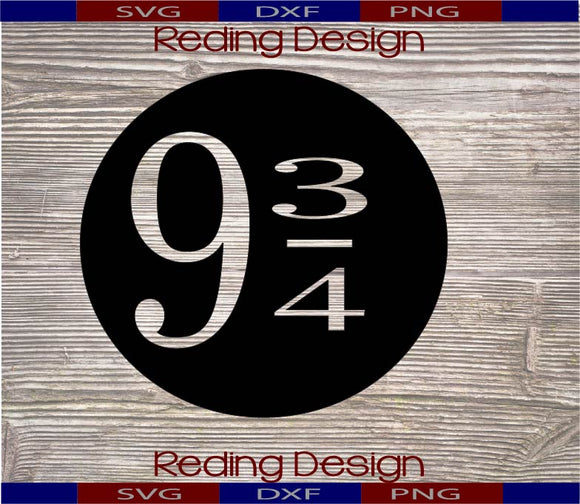 Nine and three quarters 9 3/4 SVG DXF PNG Digital Cut Files