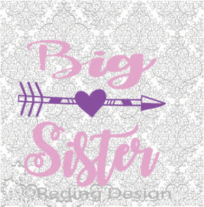 Big Sister SVG DXF PNG Digital Cut Files