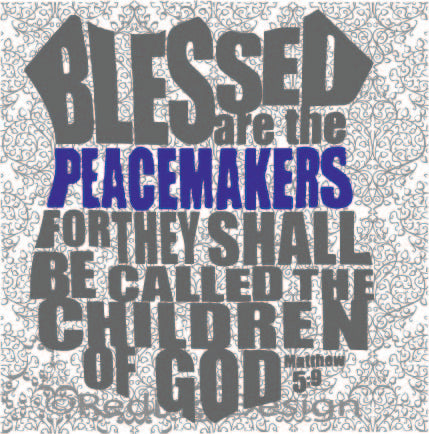 Blessed are the Peacemakers Shield Police Law Enforcement SVG DXF PNG Digital Cut Files