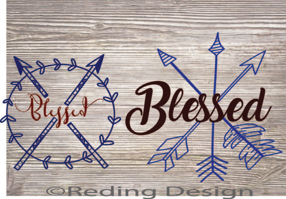Blessed Arrow Digital Cut Files SVG DXF PNG