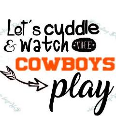 Cuddle and Watch the Cowboys OSU Oklahoma SVG DXF PNG Digital Cut Files