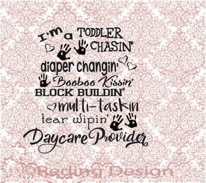 Day Care Provider Digital Cut Files PNG SVG DXF