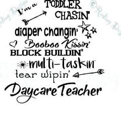 Day Care Teacher SVG DXF PNG Digital Cut Files