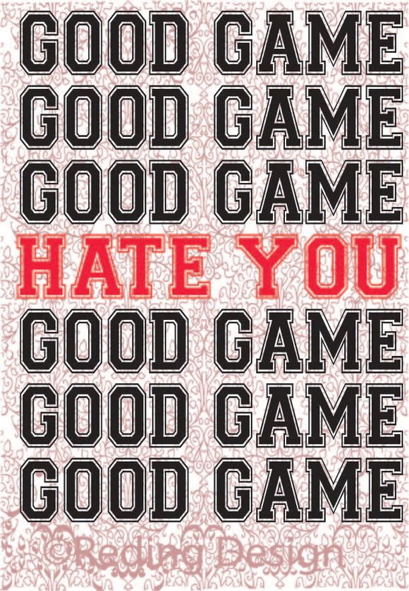 Good Game Hate You Digital Cut Files SVG PNG DXF