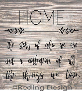 Home Story Collection digital cut files svg dxf png