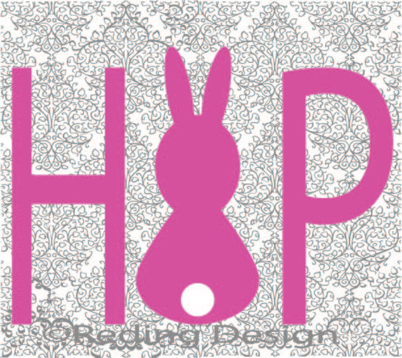 Hop Easter Digital Cut Files PNG SVG DXF