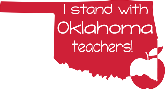 I Stand with Oklahoma Teachers SVG PNG DXF Digital Cut Files