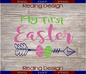My First Easter Arrow Digital Cut Files PNG SVG DXF
