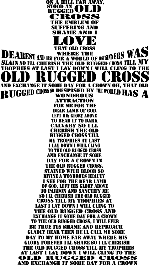 Old Rugged Cross Digital Cut Files PNG SVG DXF
