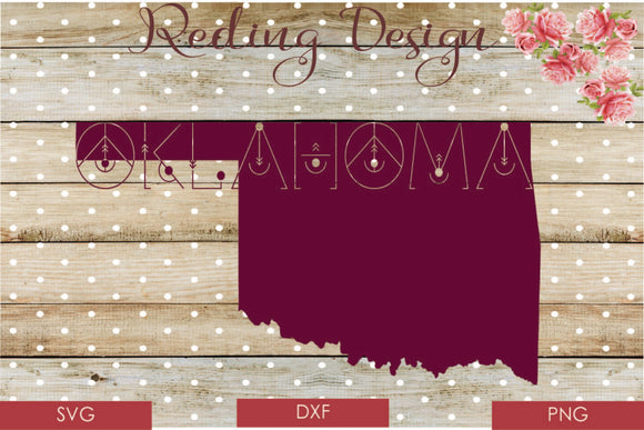 Oklahoma Digital Cut File SVG PNG DXF
