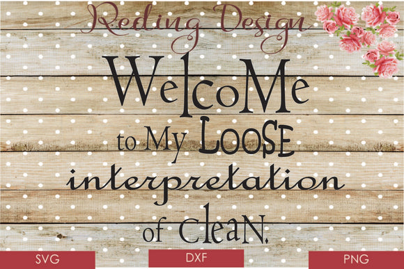 Loose interpretation of Clean SVG PNG DXF Digital Cut File