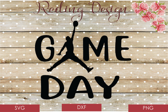 Game Day Basketball Digital Cut File SVG PNG DXF