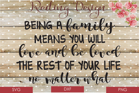 Family is to be Loved and to Love Digital Cut Files SVG DXF PNG