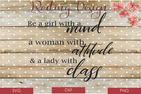 Girl Woman Lady Digital Cut Files SVG DXF PNG