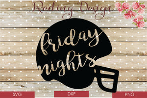Friday Nights Digital Cut File SVG PNG DXF