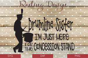 Drumline Sister Digital Cut File SVG PNG DXF