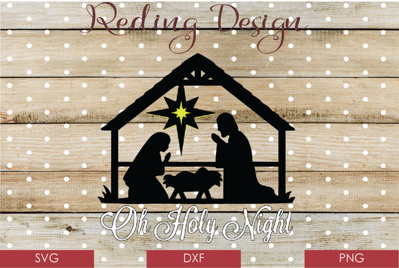 Holy Night Nativity Digital Cut File SVG PNG DXF